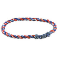 Tornado Titanium Necklace - Navy/Maroon