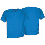 Two-Button Poly Baseball Jersey - Mens - Royal
