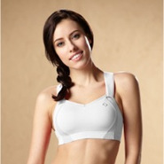 Juno High-Impact Sports Bra - Womens - White