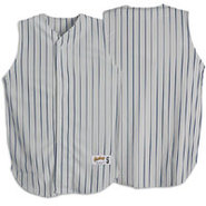 Pinstripe Sleeveless Jersey - Mens - Grey/Navy