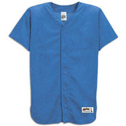 Mesh Full Button Baseball Jersey - Mens - Royal