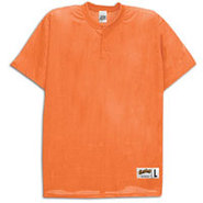 Two-Button Mesh Baseball Jersey - Mens - Orange