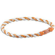 Tornado Titanium Necklace - Burnt Orange/White