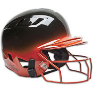 Air-6 2-Color Batters Helmet with Mask - Black/Ora