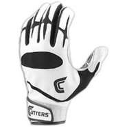 Pro Batting Gloves - Mens - White/Black