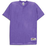 Two-Button Mesh Baseball Jersey - Mens - Purple