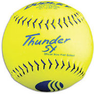 Thunder Yellow Synthetic Softball