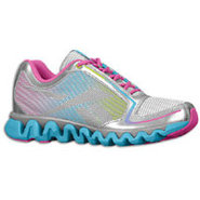 ZigLite Run - Girls Grade School - Silver/Buzz Blu