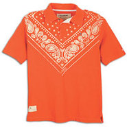 Never Again Bandana Polo - Mens - Orange.Com