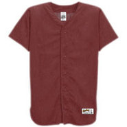 Mesh Full Button Baseball Jersey - Mens - Dark Mar