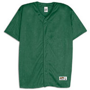 Mesh Full Button Baseball Jersey - Mens - Forest