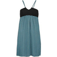 Faceplant Dress - Womens - Pool Blue Geometric Pri
