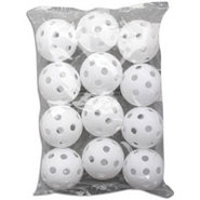 Softball Size Plastic Practice Balls - White