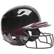 Air-6 2-Color Batters Helmet with Mask - Black/Mar