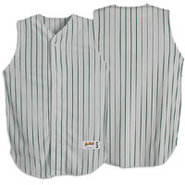 Pinstripe Sleeveless Jersey - Mens - Grey/Forest