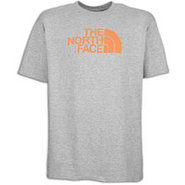 Half Dome S/S T-Shirt - Mens - Heather Grey/Orange