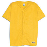 Mesh Full Button Baseball Jersey - Mens - Gold