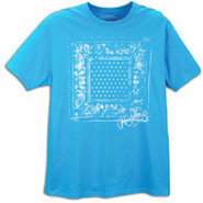 Rock Bandana S/S T-Shirt - Mens - Island Blue