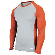 EVAPOR Baseball Compression Top - Mens - Grey/Oran