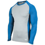EVAPOR Baseball Compression Top - Mens - Grey/Roya