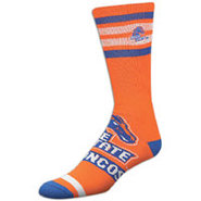 Boise State Broncos For Bare Feet College Crew Soc
