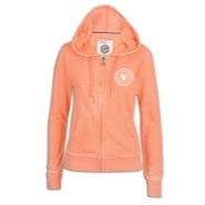 Burnout Full Zip Hoodie - Womens - Acid Orange