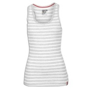 Stripe Racerback Tank - Womens - Heather Grey