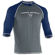 3/4 Sleeve Cage to Game Top - Mens - Navy/Carbon