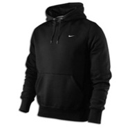 Classic Fleece Swoosh PO Hoodie - Mens - Black