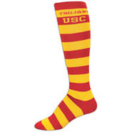 USC Trojans For Bare Feet College Crew Sock - Wome