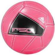 F50 X-ITE Soccer Ball - Bright Pink/Black/Metallic