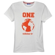 World Globe S/S T-Shirt - Mens - White/Collegiate