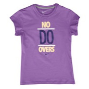 No Do Overs S/S T-Shirt - Girls Grade School - Lig