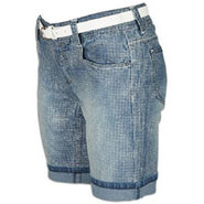 Denim Short - Womens - Medium Sand Blue