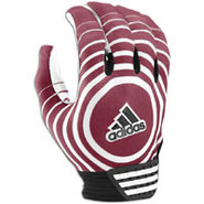 Supercharge Receiver Glove - Mens - Maroon/White