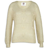 Heart Sweater - Womens - Gold