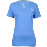 Classic Swoosh V-Neck S/S T-Shirt - Womens - Lake 