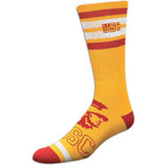 USC Trojans For Bare Feet College Crew Sock - Mens