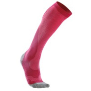 Performance Compression Run Sock - Womens - Hot Pi