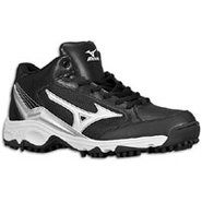 9-Spike Blast 3 Mid - Mens - Black/White
