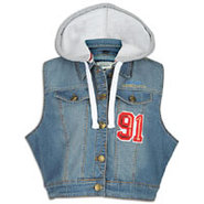 Plus Size SLVLS Denim Jacket Hoodie - Womens - Med