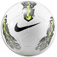 Strike Soccer Ball - White/Volt