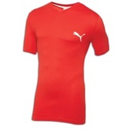 Iconic V-Neck S/S T-Shirt - Mens - Puma Red