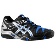 Gel Resolution 5 - Mens - Black/Silver/Blue Ribbon