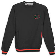 1919 Raglan 2 Tone Fleece Crew - Mens - Black