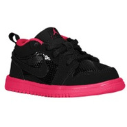 AJ1 Low - Boys Toddler - Black/Voltage Cherry