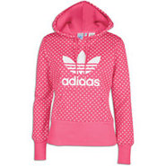 Trefoil Lips Pullover Hoodie - Womens - Blaze Pink