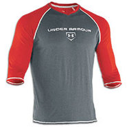 3/4 Sleeve Cage to Game Top - Mens - Red/Carbon