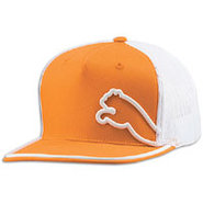 Monoline Snapback Trucker Cap - Mens - Orange/Whit