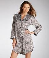 Leopard Stretch Satin Nightshirt Sleepwear